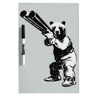 caza divertida del oso del vintage pizarras blancas de calidad