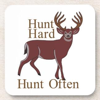 Caza dura de la caza a menudo posavasos de bebida