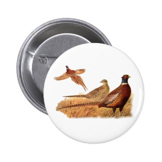 Caza evasiva del pájaro del faisán pin redondo de 2 pulgadas