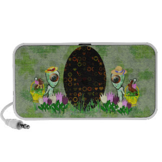 Caza extranjera del huevo de Pascua Notebook Altavoz