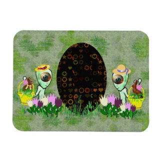 Caza extranjera del huevo de Pascua Imán Flexible