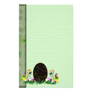 Caza extranjera del huevo de Pascua Papelería Personalizada