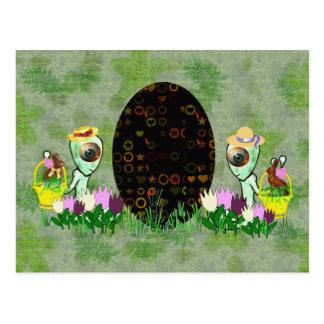 Caza extranjera del huevo de Pascua Postal