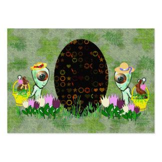 Caza extranjera del huevo de Pascua Plantilla De Tarjeta De Visita