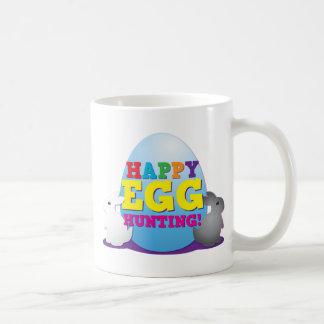 ¡Caza feliz del HUEVO! Taza De Café