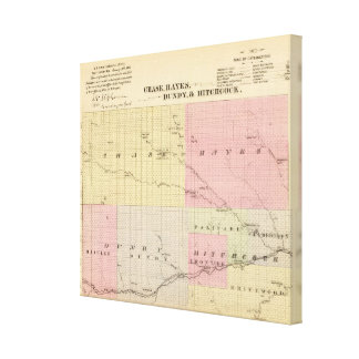 Caza, Hayes, Dundy, e Hitchcock, Nebraska Impresión En Lienzo