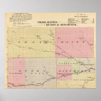 Caza, Hayes, Dundy, e Hitchcock, Nebraska Póster