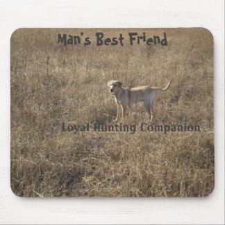 Caza leal del mejor amigo del hombre tapete de ratones