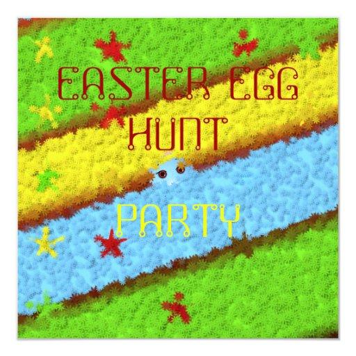 """Caza ocultada de la mujer del huevo de Pascua Invitación 5.25"""" X 5.25"""""""
