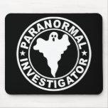 Caza paranormal del fantasma del logotipo del inve tapetes de raton