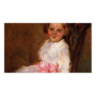 Caza-Retrato de Guillermo de Helen, hija del artis Plantilla De Tarjeta Personal
