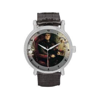 Caza-Retrato de Guillermo Merritt de Mme. E.H. Ben Reloj De Mano