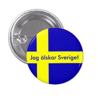 Caza Sverige Button älskar Pins