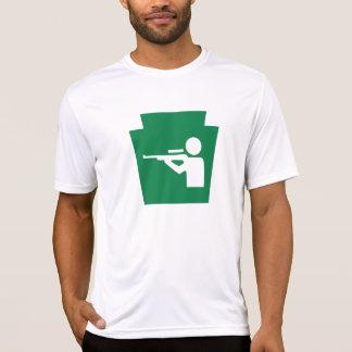 Caza trapezoidal - la microfibra T de los hombres Camisetas