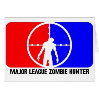 cazador 1 del zombi felicitación