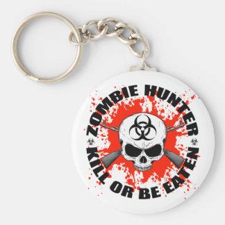 Cazador 1 del zombi llavero redondo tipo pin