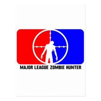 cazador 1 del zombi tarjeta postal