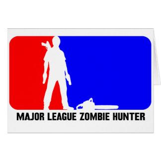 cazador 2 del zombi felicitacion