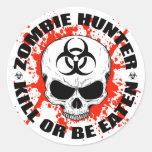 Cazador 3 del zombi pegatinas redondas