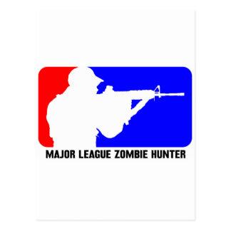 cazador 3 del zombi tarjetas postales