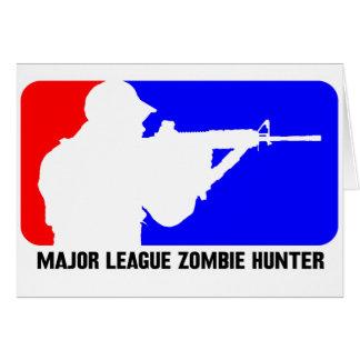 cazador 3 del zombi tarjetón
