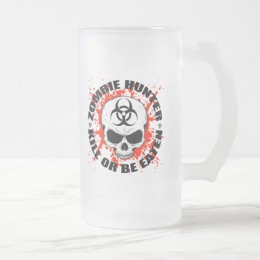 Cazador 3 del zombi taza cristal mate