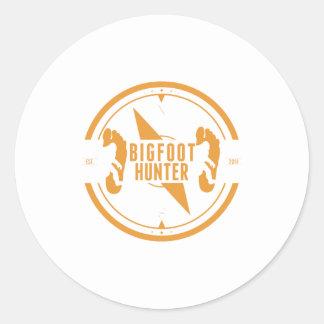 Cazador anaranjado de Bigfoot Etiquetas