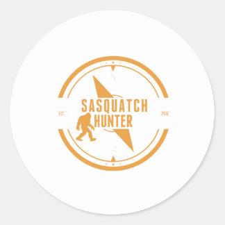 Cazador anaranjado de Sasquatch Etiqueta