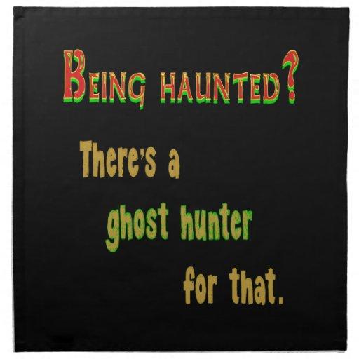 Cazador App del fantasma para ese (fondo negro) Servilletas Imprimidas
