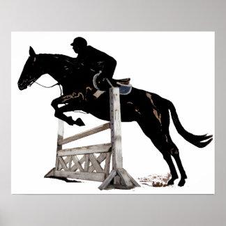Cazador/caballo del puente y poster del jinete