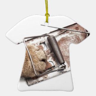 Cazador capturado adorno de cerámica en forma de camiseta