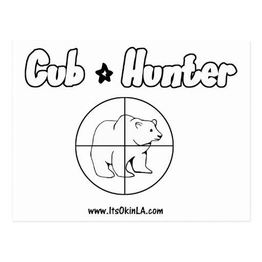 Cazador de Cub Tarjeta Postal