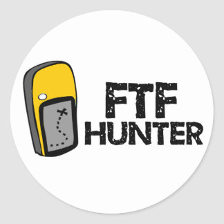 Cazador de FTF Pegatina Redonda
