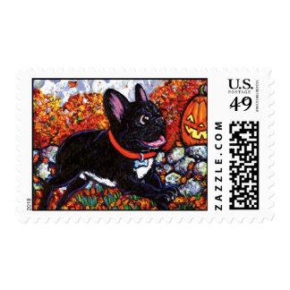 Cazador de la calabaza timbres postales