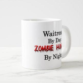 Cazador de la camarera/del zombi taza de café grande