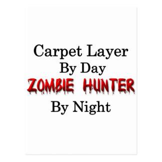 Cazador de la capa/zombi de la alfombra tarjeta postal