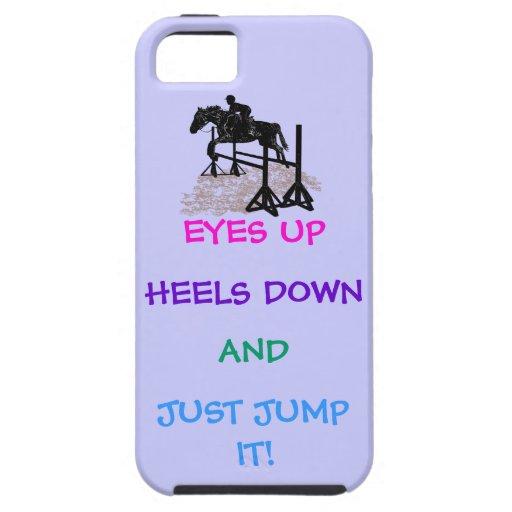 Cazador de la diversión/Equestrian del puente iPhone 5 Coberturas