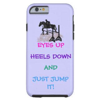 Cazador de la diversión/Equestrian del puente Funda Para iPhone 6 Tough