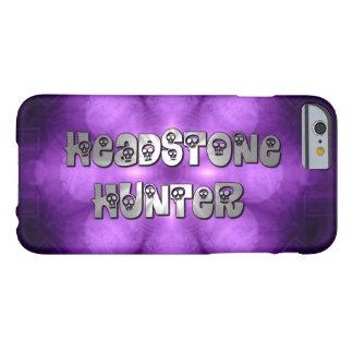 Cazador de la lápida mortuoria en púrpura y plata funda barely there iPhone 6