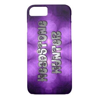 Cazador de la lápida mortuoria en púrpura y plata funda iPhone 7