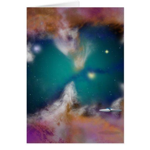 Cazador de la nebulosa tarjetón