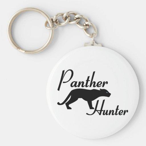 Cazador de la pantera llavero redondo tipo pin