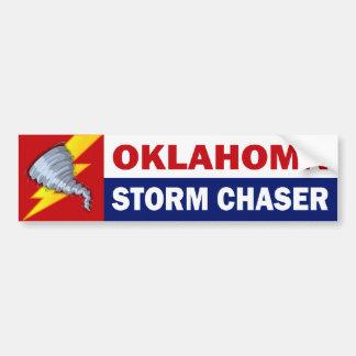 Cazador de la tormenta de Oklahoma Pegatina De Parachoque
