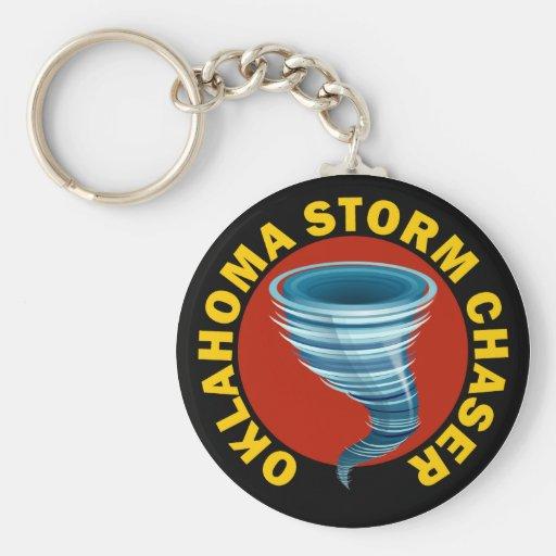 Cazador de la tormenta de Oklahoma Llavero Redondo Tipo Pin