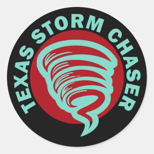 Cazador de la tormenta de Tejas Pegatina Redonda