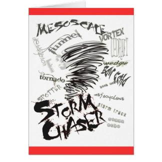 Cazador de la tormenta tarjeta de felicitación