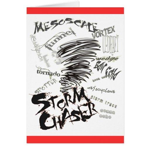 Cazador de la tormenta tarjetón