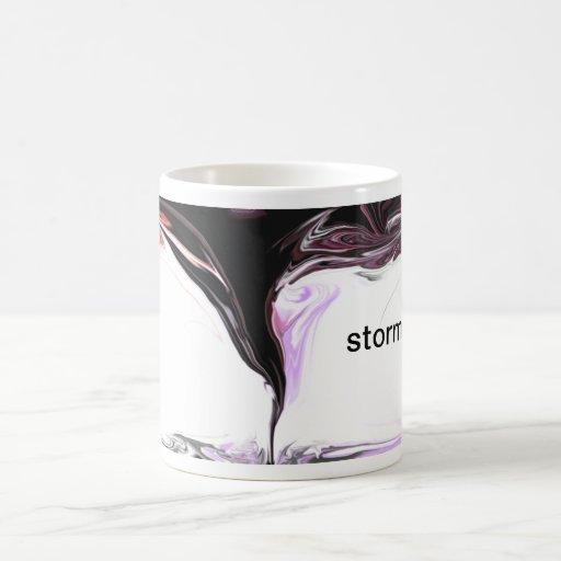 cazador de la tormenta, taza de café