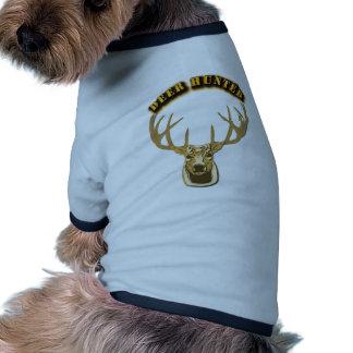 Cazador de los ciervos ropa de perro