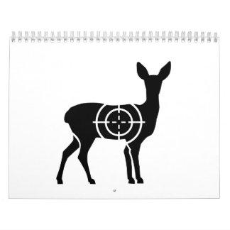 Cazador de los retículos de la gama calendario